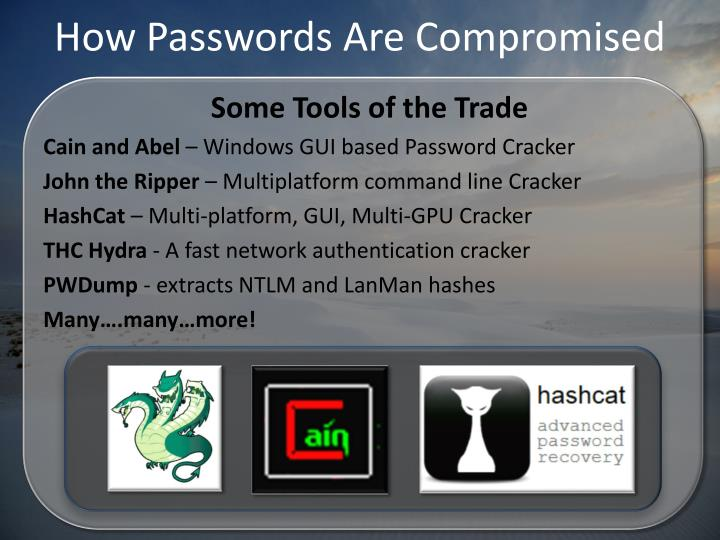 How Passwords Are Compromised