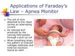 applications of faraday s law apnea monitor