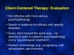 client centered therapy evaluation1
