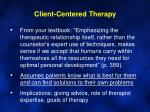 client centered therapy1