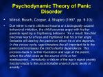 psychodynamic theory of panic disorder1