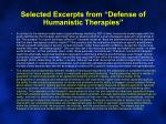 selected excerpts from defense of humanistic therapies2