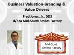 business valuation branding value drivers