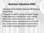 business valuation fmv