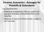 forensic economics damages for plaintiffs defendants2