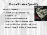 marital estate quantify
