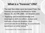 what is a forensic cpa
