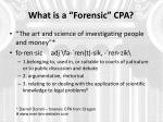 what is a forensic cpa1