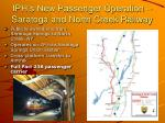iph s new passenger operation saratoga and north creek railway