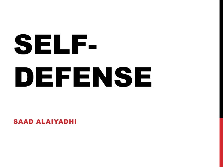 self defense n.