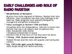 early challenges and role of radio pakistan