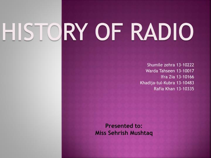 PPT - History of Radio PowerPoint Presentation - ID:1676009