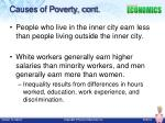 causes of poverty cont
