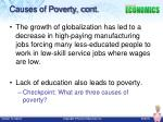 causes of poverty cont1