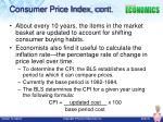 consumer price index cont