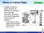 effects on interest rates