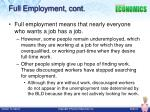 full employment cont