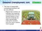 seasonal unemployment cont