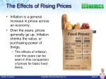 the effects of rising prices