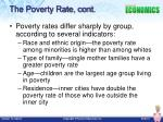 the poverty rate cont