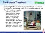 the poverty threshold