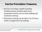 exercise prescription frequency