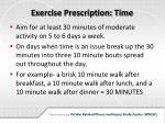 exercise prescription time