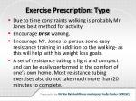 exercise prescription type