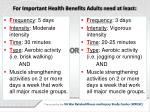 for important health benefits adults need at least