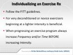 individualizing an exercise rx