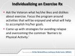 individualizing an exercise rx1