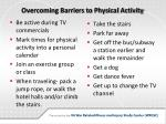 overcoming barriers to physical activity