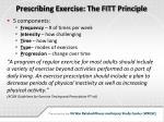 prescribing exercise the fitt principle