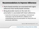 recommendations to improve adherence
