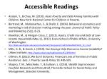 accessible readings