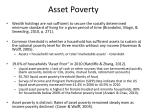 asset poverty