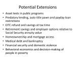 potential extensions