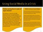 using social media in a crisis