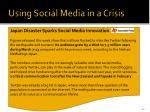using social media in a crisis1