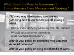 what does this mean to government comprehensive crisis management strategy