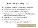 how will you keep track