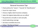 general insurance tips