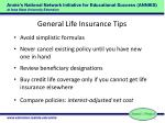 general life insurance tips