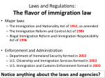 laws and regulations the flavor of immigration law1