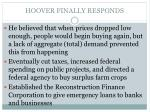 hoover finally responds