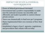 impact of state federal governments
