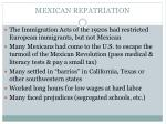 mexican repatriation