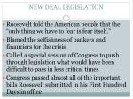 new deal legislation