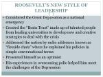 roosevelt s new style of leadership