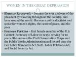 women in the great depression